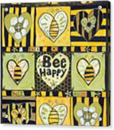 Bee Happy Acrylic Print by Jen Norton