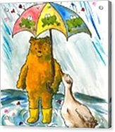 Beebs And Goosey In The Rain Acrylic Print