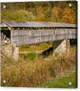 Beech Fork Or Mooresville Covered Bridge Acrylic Print