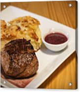 Beef Steak With Potato And Cheese Bake Acrylic Print