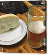Beer And Jarlsberg Acrylic Print by Timothy Jones
