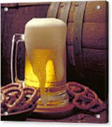 Beer And Pretzels Acrylic Print