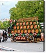 Beer Barrels On Cart Acrylic Print