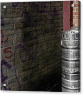 Beer Keggs And Graffiti Acrylic Print