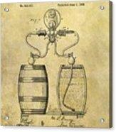 Beer Pump Patent Acrylic Print