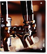 Beer Taps Acrylic Print by Ryan McVay