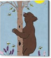 Bees And The Bear Acrylic Print