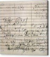 Beethoven Manuscript Acrylic Print