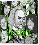 Beetlejuice Tribute Acrylic Print by Gary Niles