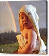 Before She Smiled Or Mona Little Acrylic Print