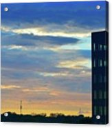 Before Sunset Color  Acrylic Print