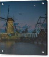 Before The Dawn, Kinderdijk Acrylic Print