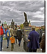 Before The Rain On The Charles Bridge Acrylic Print