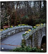 Beginning Of Spring Bridge Acrylic Print