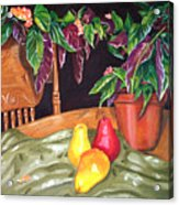 Begonias And Pears Acrylic Print