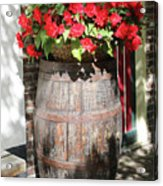 Begonias In The Barrel Acrylic Print