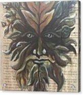 Beguiling Green Man Acrylic Print