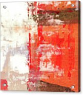 Behind The Corner - Warm Linear Abstract Painting Acrylic Print