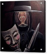 Behind This Mask Acrylic Print