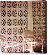 Beige Chairs Palm Springs Acrylic Print