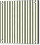 Beige White Striped Pattern Design Acrylic Print