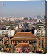 Beijing Central Axis Skyline, China Acrylic Print