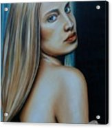 Being Emma, Nude Portrait Art Acrylic Print