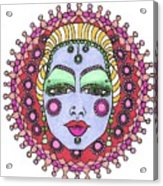 Bejeweled Blond Acrylic Print