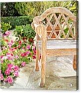 Bel-air Bench Acrylic Print by David Lloyd Glover