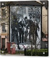 Belfast Mural - Civil Rights Association - Ireland Acrylic Print