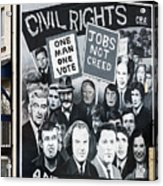 Belfast Mural - Civil Rights - Ireland Acrylic Print