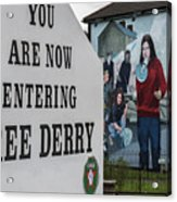 Belfast Mural - Free Derry - Ireland Acrylic Print