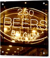 Belgian Beer Sign Acrylic Print