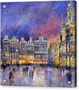 Belgium Brussel Grand Place Grote Markt Acrylic Print