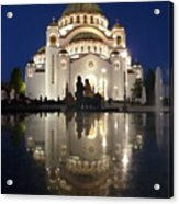 Belgrade Serbia Orthodox Cathedral Of Saint Sava  Acrylic Print