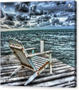 Belize Beach Chair #2 Acrylic Print