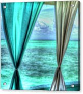 Belize Curtains #1 Acrylic Print