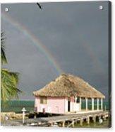 Belize Double Rainbow Acrylic Print