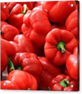 Bell Peppers Red Acrylic Print