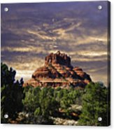Bell Rock In Hdr Acrylic Print