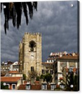 Bell Tower Against Roiling Sky Acrylic Print