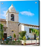 Bell Tower  In Carmel Mission-california  Acrylic Print