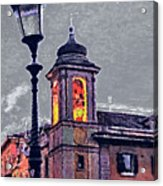 Bell Tower Of Rome Acrylic Print