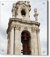 Bell Tower With Red   Acrylic Print