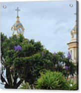 Bell Towers Next To Trees Acrylic Print