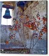 Bell Wall And Eastern Wall Of Serra Chapel In Sacred Garden Mission San Juan Capistrano California Acrylic Print