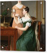 Bella And Hanna. The Eldest Daughters Of M.l. Nathanson Acrylic Print