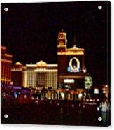 Bellagio And Caesar's Palace In Las Vegas-nevada Acrylic Print