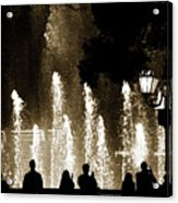 Bellagio Fountain At Night Acrylic Print