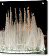Bellagio Fountains Night 3 Acrylic Print by Andy Smy